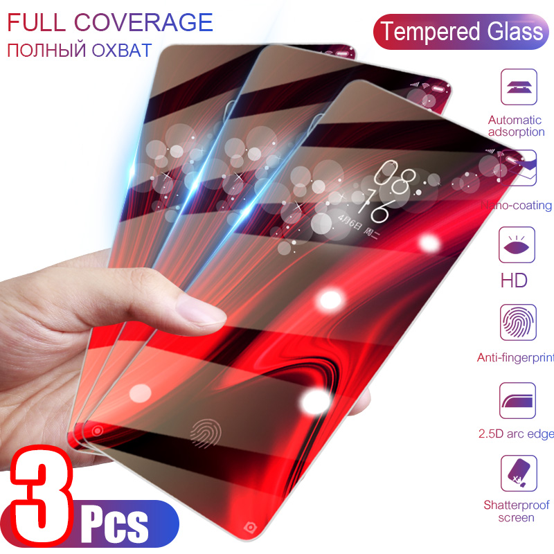 3Pcs Tempered Glass For Xiaomi Mi 9T Pro 9 SE Safety Glass Screen Protector For Xiaomi Mi CC9 8 A1 A2 A3 Lite Pocophone F1 Glass
