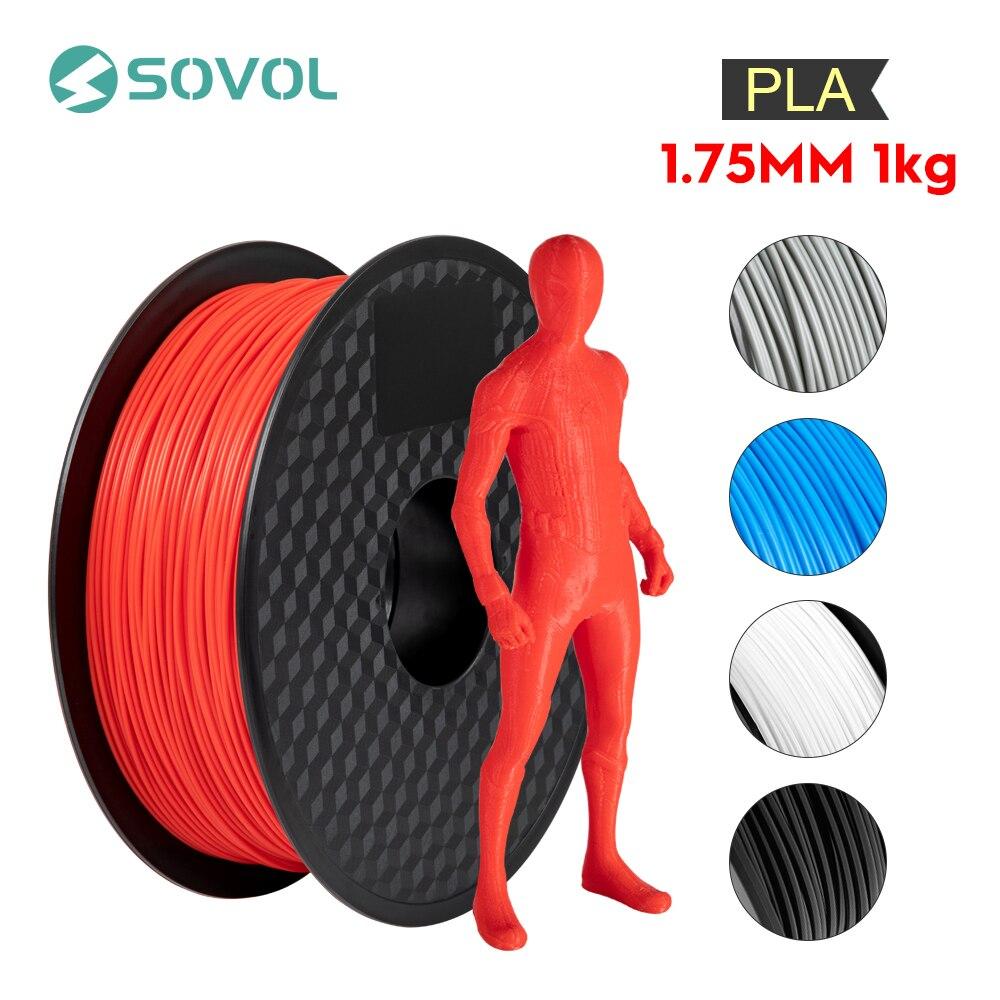 1KG/rollo Sovol 3D filamento de impresora PLA 1,75mm alta calidad 3D Material de la pluma de impresión 5 colores para todas las impresoras 3D y pluma 3D KIT de actualización PLA 2,0 Asistente de estacionamiento frontal 4K a 12K para VW Tiguan 5N 3AA 919 475 M/S