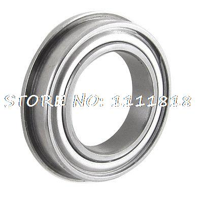 F6802 Silver Tone Sealed Flanged Ball Bearing 15mm X 24mm X 5mm