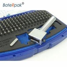 Juego de punzones de sello de acero intercambiables, letras de estampado Felxible de trazo, tamaño disponible 2/2, 5/3/4/5/6mm, P-112