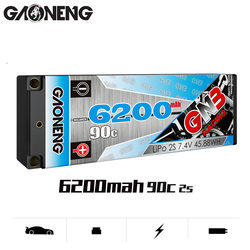 Gaoneng  GNB 6200MAH 2S1P 90C  7.4V   Rechargeable Lipo Battery  XT60/T Plug XT90 Plug for 1:10 RC Car Boat