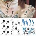 Татуировка хной 1 шт., временные водонепроницаемые дышащие наклейки с эффектом пота