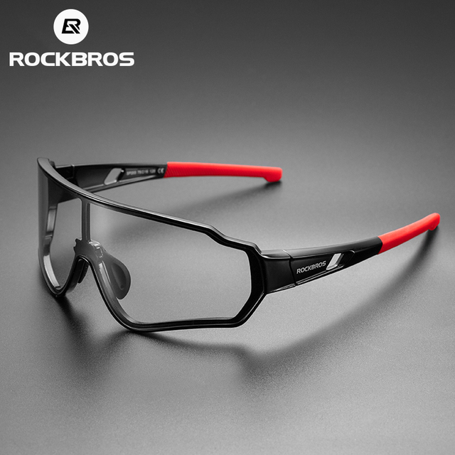 Rockbros bicicleta óculos de sol das mulheres dos homens photochromic polarizado de vidro ao ar livre uv400 esportes ciclismo óculos 2