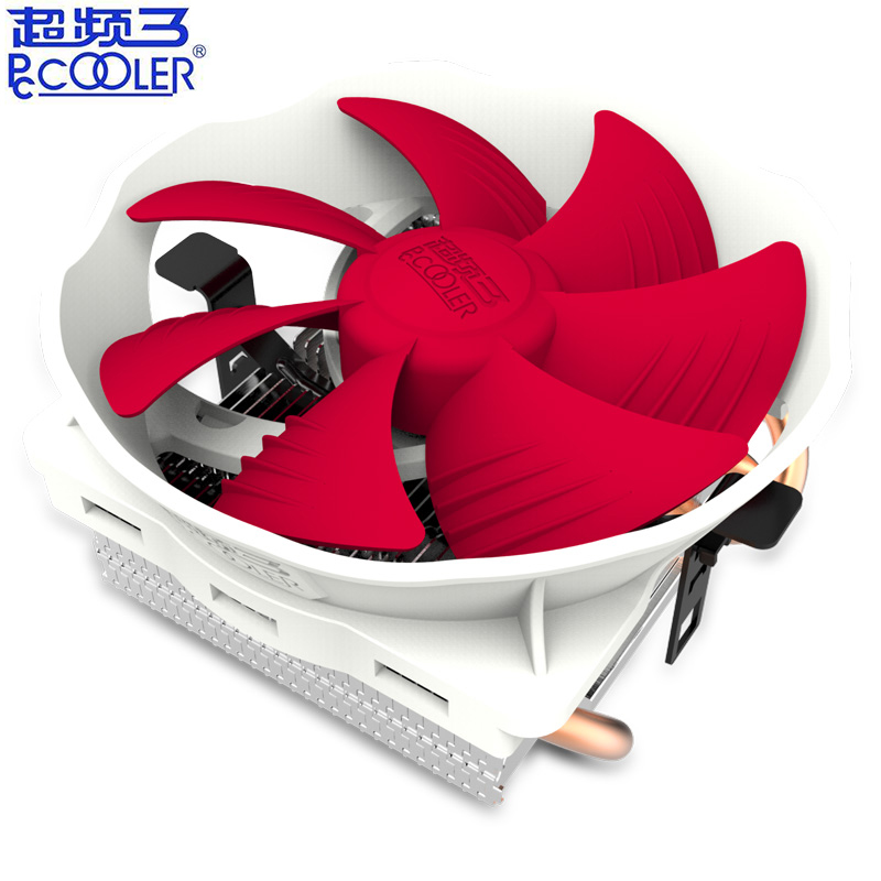 Pccooler V6 4 Copper Heatpipes <font><b>CPU</b></font> Cooler Radiator For AMD <font><b>Intel</b></font> 775 1150 <font><b>1151</b></font> 1155 1156 120mm 4pin PWM <font><b>CPU</b></font> Cooling fan PC quiet image