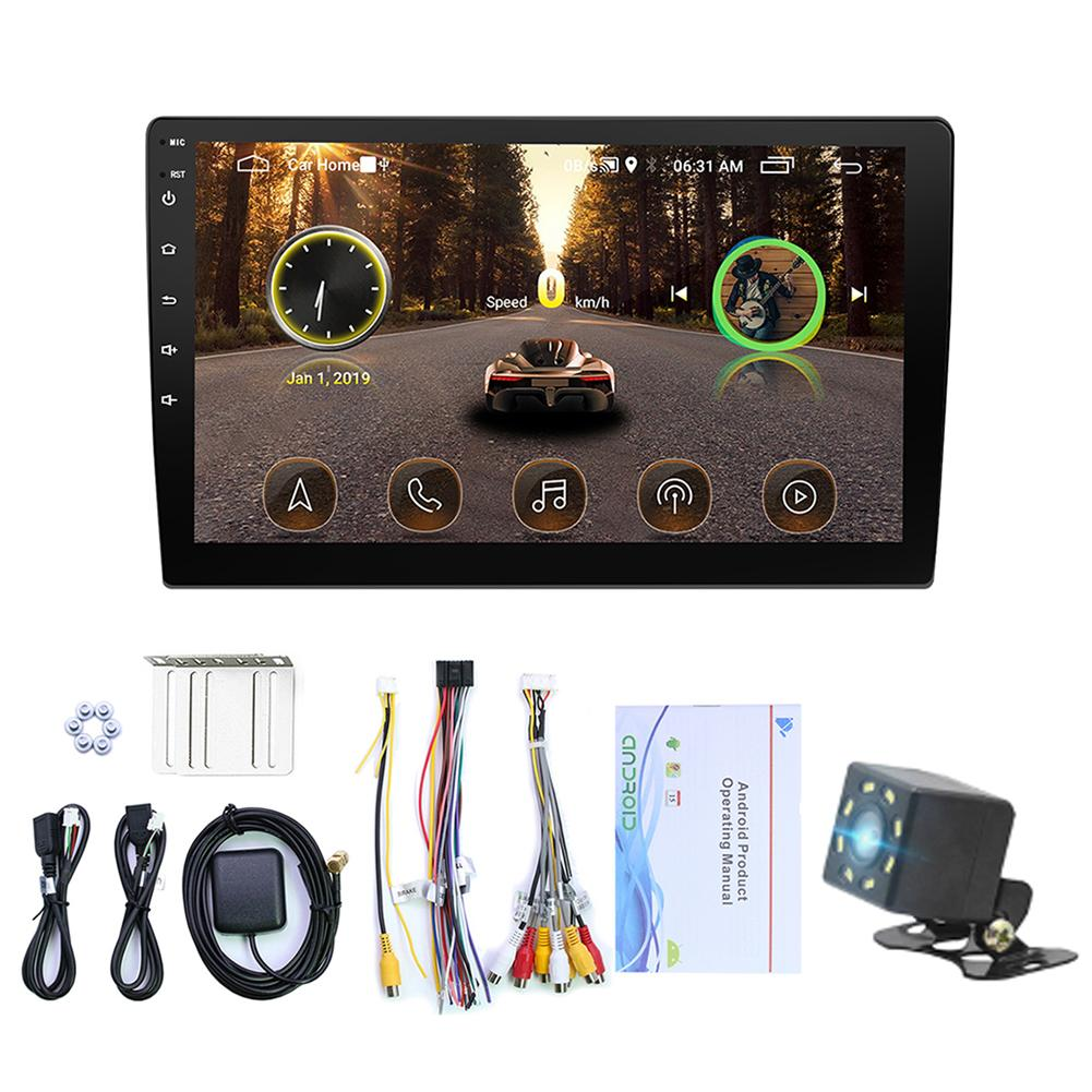 9/10. 1 Polegada rádio do carro android 8.1 hd tela de toque bluetooth gps navegação wifi internet acesso multi funcional rádio & câmera