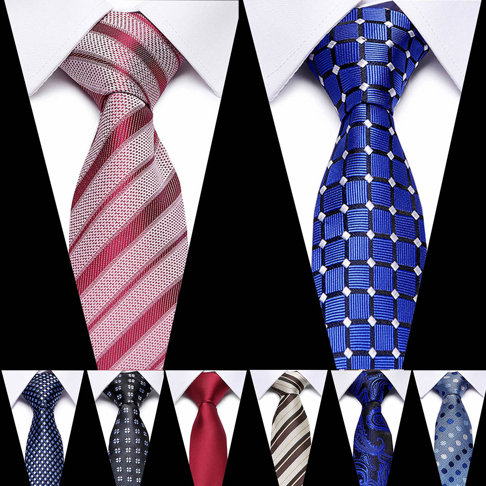 7.5cm 100% Silk Men Tie Floral Red Blue Neckties For Men Classic Luxury Necktie Formal Wedding Party