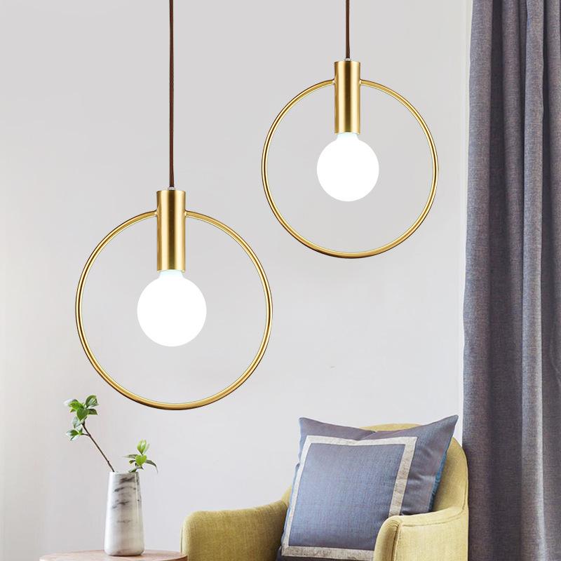 Złoty Wisiorek Obrączka światła Nowoczesne Złote Koło Wiszące Lampy Led Hanglamp Jadalnia Oświetlenie Kuchenne Oprawy Bar Wystrój Sztuka Dla Domu Wiszące Lampki Aliexpress