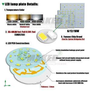 Image 2 - 1/5 セット LED PCB + ドライバキット 6 ワット 12 ワット 18 ワット Led ダウンライトアルミヒートシンク SMD5730 110lm/w 正方形の光源のためのパネルランプ