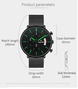 Image 3 - Swish Mannen Horloges 2020 Luxe Merk Mode Heren Horloges Rvs Sport Chronograaf Militaire Horloge Quartz Reloj