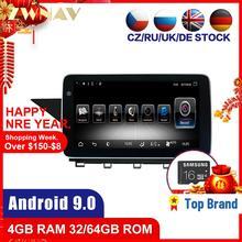 4 + 64 Android 9.0 araba Stereo DVD OYNATICI GPS Glonass Navi mercedes-benz GLK X204 2008-2012 ses multimedya radyo BT kafa ünitesi