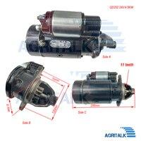Motor de arranque 24V 4.5kw QD252 para cargador como ZL12F o generador  etc. Para motor Changchai 4L68