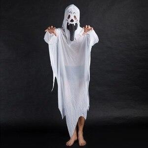 Image 2 - Disfraces de fiesta de Halloween de umarden, disfraz de fantasma blanco escalofriante a juego para Familia, traje de Cosplay para niños y adultos