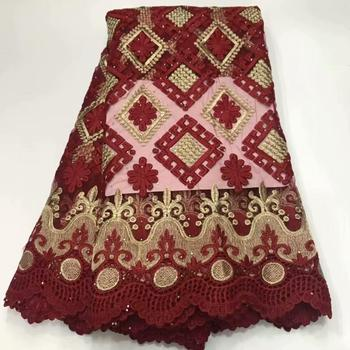 African lace fabrics Nigeria French net lace fabrics african cord lace high quality with 5 yards