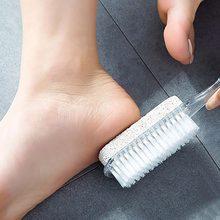 Outil de pédicure et de Massage des pieds, brosse exfoliante, Spa, douche, élimine la peau morte, 1 pièce, 4 en 1