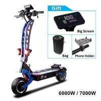 FLJ-patinete eléctrico SK3 Pro para adultos, Scooter plegable con motor Dual de 11 pulgadas, 60v/72v, 6000W, 7000W