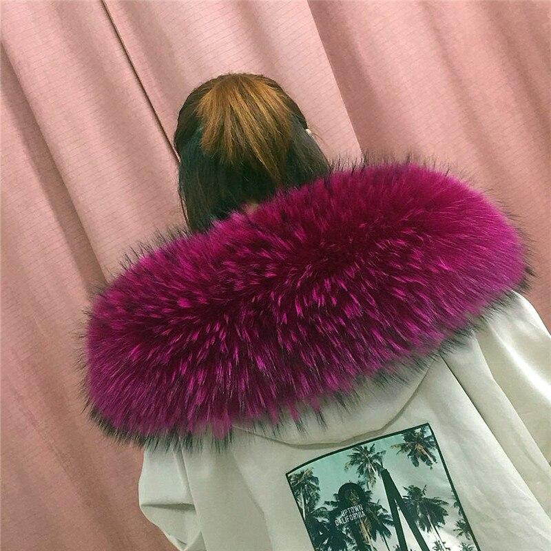 Зимняя женская Кожаная шапка с воротником из меха енота, мягкий цветной меховой шарф L5 - Цвет: Color 3