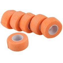 6 PCS First Aid Medical Self-Adhesive Elastic Bandage Gauze Tape (Orange, 2.5cm) waterproof bandage wraps elastic adhesive first aid tape stretch treatment medical elastic print self adhesive tapes