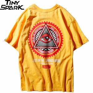 Image 2 - เรขาคณิตสามเหลี่ยมTเสื้อHip Hopผู้ชายเสื้อยืดเจ้าพ่อพิมพ์Casualฝ้ายTops Teesใหม่ 2020 ฤดูร้อนStreetwear TShirt