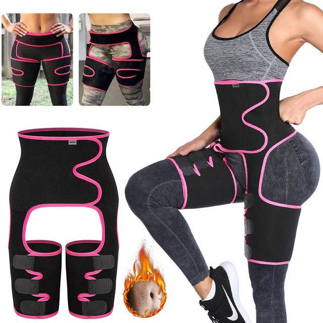 Neoprene Sweat Slim Thigh Trimmer Waist Trainer Leg Shapers Slender Slimming Belt Shapewear Muscles Band Weight Loss Body Shaper