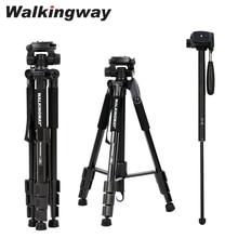 Walkingway Q222 camera tripod stand Portable Professional tripode trípode Aluminum monopod pan head Compact for DSLR projector
