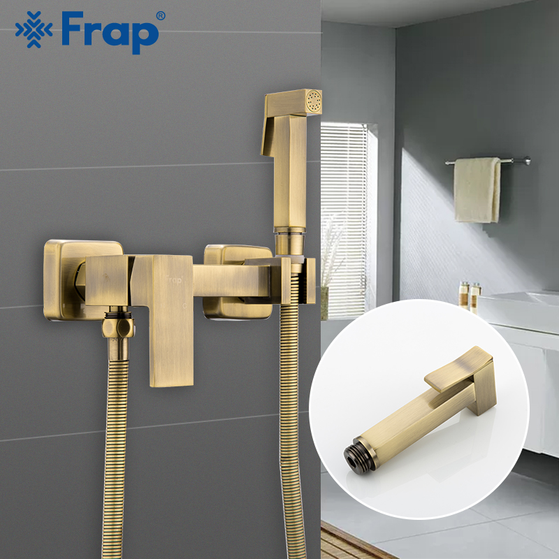 FARP Bidets shower bronze wash head hygienic shower sprayer airbrush tap cold & hot mixer toilet kit spray bidet spray