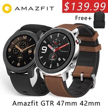 Xiaomi Amazfit GTR 47MM 42MM  GPS Smart Watch 2 Amazfit 5ATM Waterproof Smartwatch12 Sport Modes 24Days BatteryAluminum Alloy