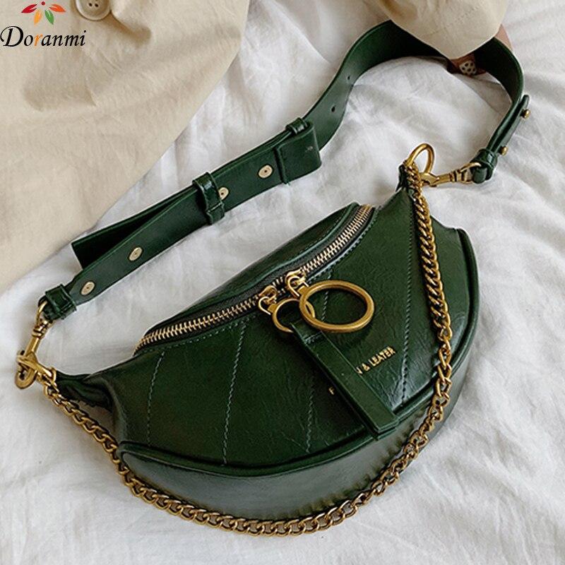 DORANMI Luxury Brand Designed Waist Bag Chain Strap Fanny Pack 2019 Women's Waist Packs Bag Crossbody Chest Bag Nerka DJB959
