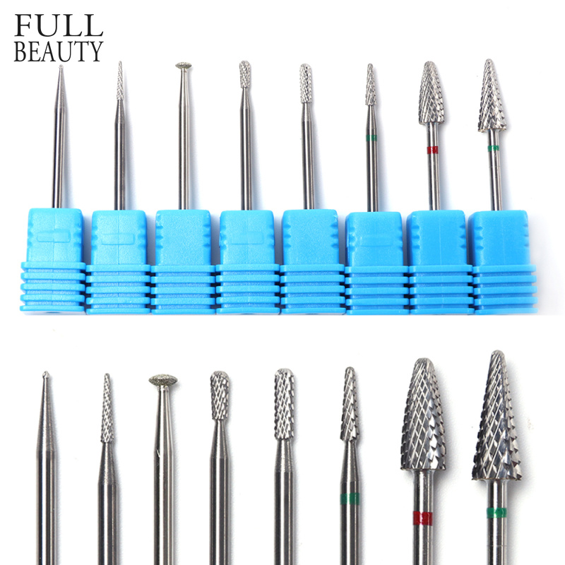 1pcs Electric Nail Drill Bit Tungsten Carbide Milling Cutter Nail Art Tool Cuticle Clean For Manicure Polishing Burr CH901