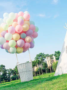 Balloons Pastel Wedding-Decoration Macaron-Foil Garland-Colored Party-Rubber 100pcs