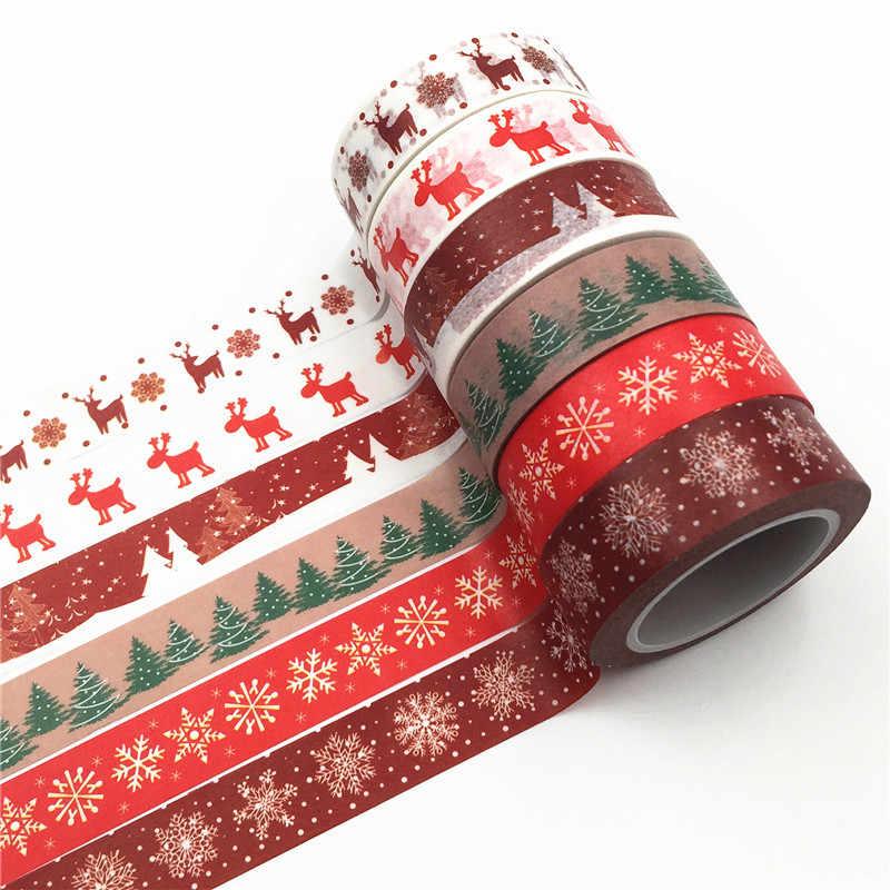 Heyda Christmas Materia... Christmas Red 5pcs Adhesive Paper Washi Tape Set