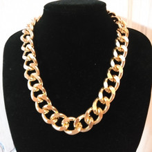 Gothic Chunky Chain Choker Necklace Punk Rock Statement Necklace Women Men Goth Jewelry Vintage Collier Femme Fashion Jewelry new crystal rhinestone choker necklace women wedding accessories silver chain punk gothic chokers jewelry collier femme