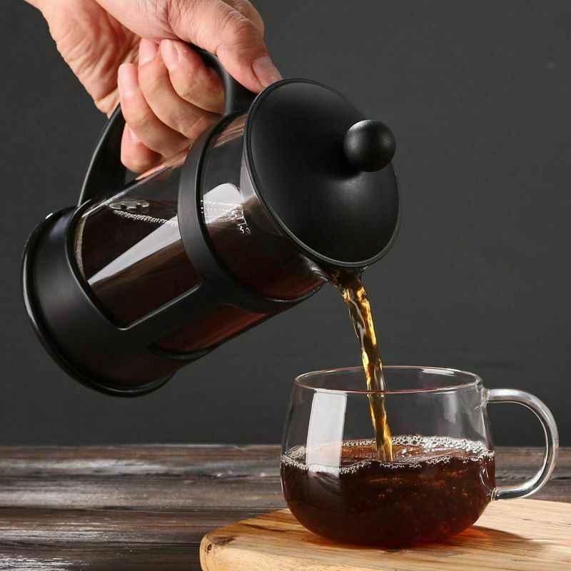 C2-350 600 1000ml cezve manuel fransız bira Pot cam çay filtresi isıya dayanıklı filtre
