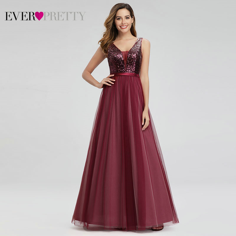 New Sparkle Prom Dresses Long Ever Pretty Sexy Double A-Line Sleeveless Sequined Evening Gowns Women Elegant Prom Dresses 2020