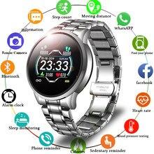 LIGE-Reloj inteligente deportivo para hombre, resistente al agua con control del ritmo cardíaco y de la presión sanguínea, recordatorio de información, para teléfono Android e iOS, 2020, novedad