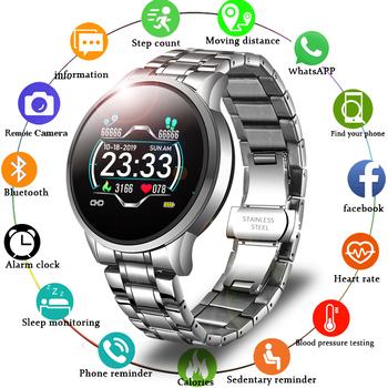 LIGE 2020 nowy inteligentny zegarek mężczyźni ciśnienia krwi tętno przypomnienie informacji sportu wodoodporna inteligentny zegarek zegarek dla Android IOS telefon tanie i dobre opinie CN (pochodzenie) Z systemem Android Wear Na nadgarstek Zgodna ze wszystkimi 128 MB Krokomierz Rejestrator aktywności fizycznej