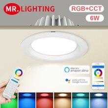 Светодиодный круглый регулируемый светильник miboxer 6 Вт rgb