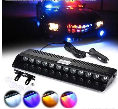 Car LED Emergency Strobe Flash Warning Light DC 12V 12 LED 10W Flashing Lights Auto Accessories