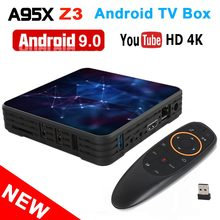 A95X Z3 6K أندرويد صندوق التلفزيون أندرويد 9.0 Allwinner H6 4GB RAM 64GB ROM USB 3.0 جوجل ميديا بلاير صندوق التلفزيون الذكية A95XZ3 فك التشفير