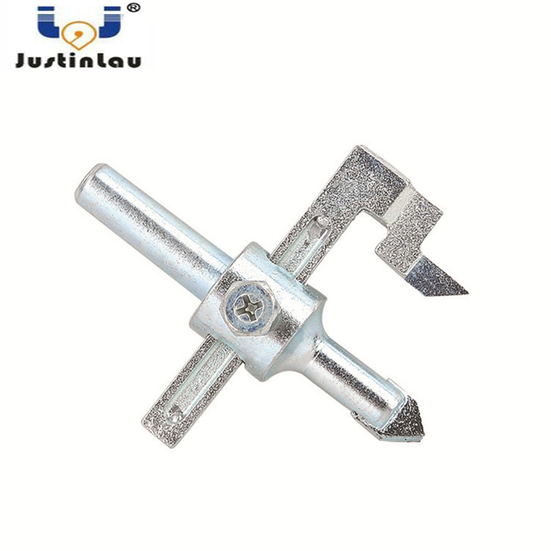JUSTINLAU 20-90mm Regular Carbide Adjustable Band Size This Product Hole Saw Airplane-shaped Hole Opener Tile Drill
