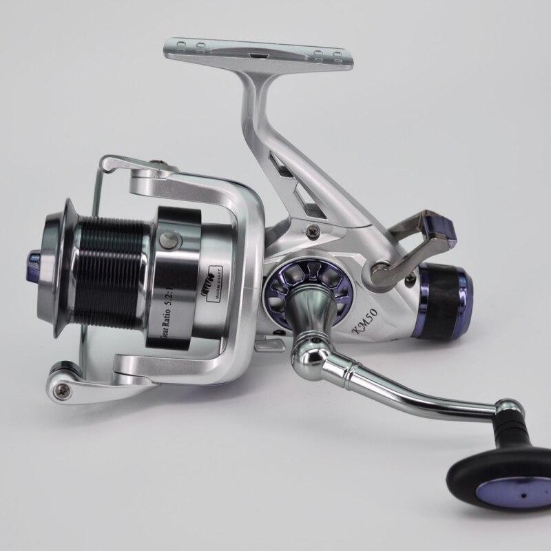 Plein métal ligne tasse filature pêche bobine poisson pôle mer ronde roue carpe pêche roues filature pêche bobine coulée 1pc