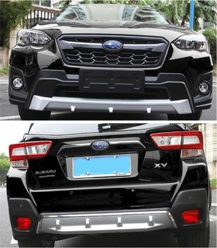 ABS Front & Rear Bumper Lip Diffuser Protector Guard Skid Plate Cover For SUBARU XV Crosstrek 2018 2019 2020 Year image