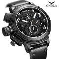 ONOLA автоматические механические часы с большим циферблатом  Мужские Молодежные водонепроницаемые черные наручные часы  повседневные спорт...