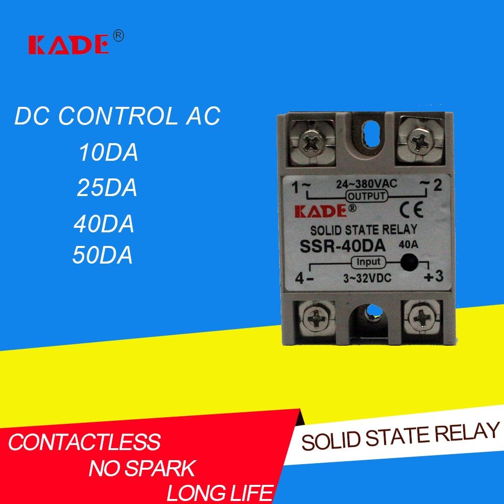 SSR  10DA/25DA/ 40DA/50DA DC контроль AC SSR белый корпус Однофазное твердотельное реле без пластиковой крышки Реле      АлиЭкспресс
