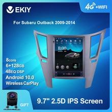Ekiy android 10 rádio do carro para subaru outback impreza legacy 2009-2014 lhd carro multimídia tesla vetical tela de navegação stereos