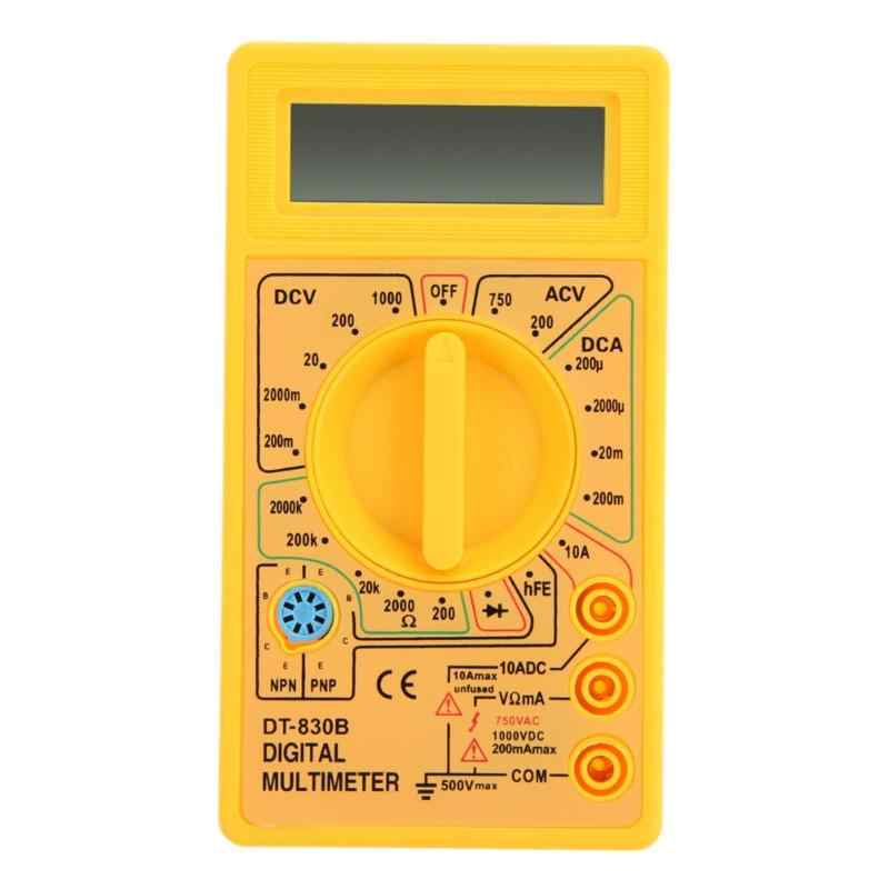 Profesjonalny DT-830B cyfrowy multimetr woltomierz amperomierz AC DC multimetr do pomiaru napięcia i rezystancji LCD Test prądu multimetr zabezpieczenie przed przeciążeniem