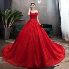Красное свадебное платье новинка 2021 элегантное роскошное кружевное