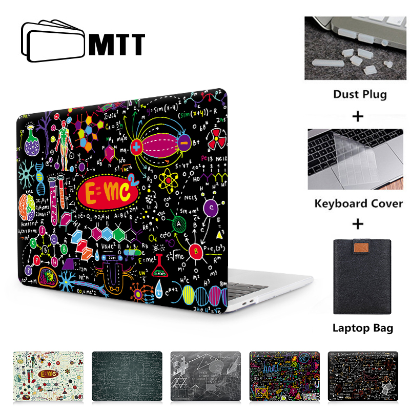 MTT Laptop Case For Macbook Air 13 Inch Shell Sleeve For Apple Mac Book Air Pro Retina 11 12 13 15 With Touch Bar Hard Cover
