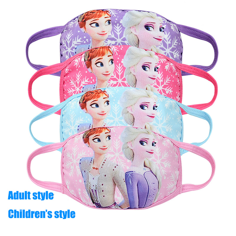 Disney Frozen 2 Kids Anti Dust Mouth Mask Cartoon Elsa Anna Anti-Dust Protective Masque Reusable Face Mask For Boys Girl Toys