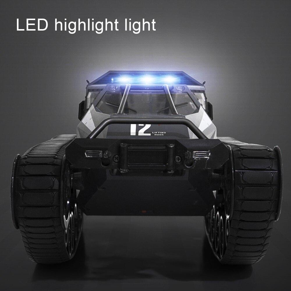 2.4G RC réservoir quatre roues grand camion militaire 1:12 grande taille Simulation réservoir entraînement haute vitesse dérive réservoir tout-terrain véhicule RC voiture - 5