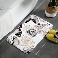 Cute Home Entrance Doormat Anti-slip Bath Carpet Water Absorption Bathroom Mat Bedroom Living Room Floor Mat Kitchen Floor Rug(China)